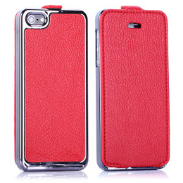 iPhone 5 Full Cover Red Leather