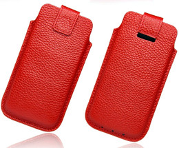 iPhone 5s Leather Pouch Red