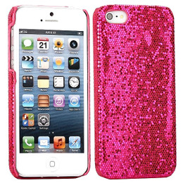 iPhone 5 Glitter Case Hot Pink