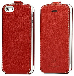iPhone 5 Hand Stitched Case Red