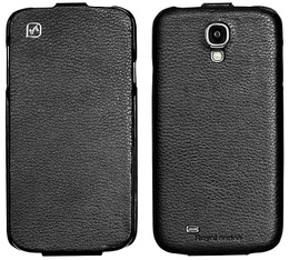 Hoco Samsung Galaxy S4 Genuine Leather Flip Case Black