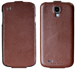 Hoco Samsung Galaxy S4 Genuine Leather Flip Case Brown