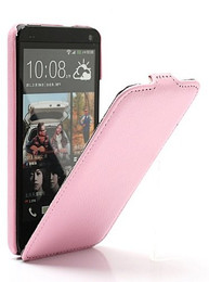HTC One Leather Case Pink