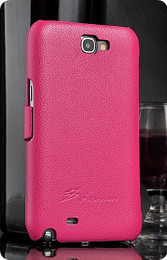 Samsung Galaxy Note 2 Genuine Leather Wallet Case Pink