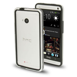 HTC One M7 Bumper Case Black