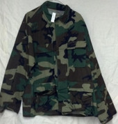 Woodland Camo Nyco BDU Shirt Large Long