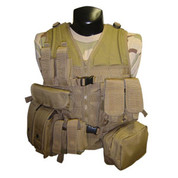8 Pocket Tactical Vest MOLLE OD