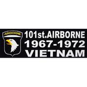 Bumper Sticker 101st Airborne 1967-1972 Vietnam