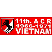 Bumper Sticker 11th ACR 1966-1971 Vietnam