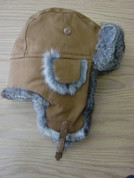 Aviator Hat Rabbit Fur Natural