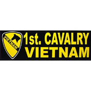 Bumper Sticker 1st Cavalry Vietnam