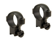 Burris Deluxe Steel .22 Scope Rings High Matte Black Finish