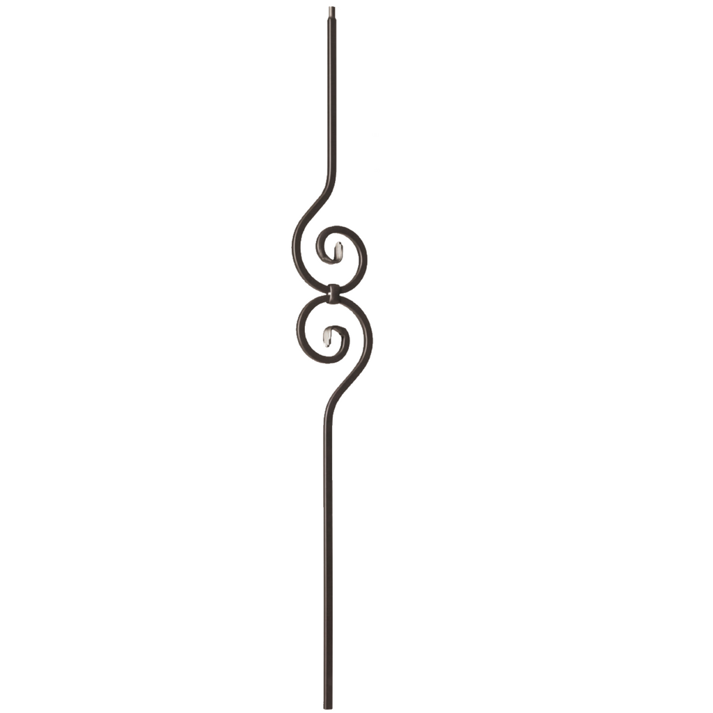 Decorative nautilus scroll iron baluster