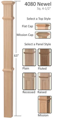wood box newels in missouri