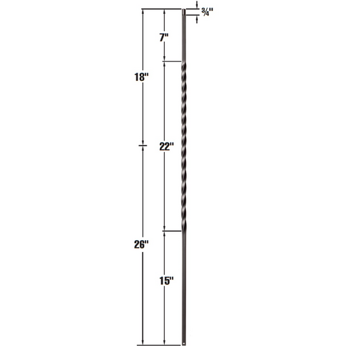 wrought iron baluster sizes