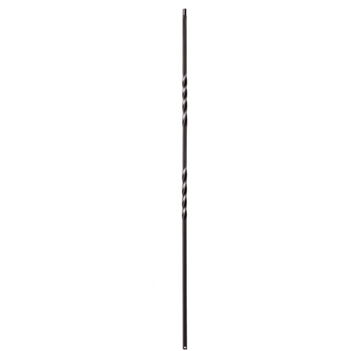 satin black double twist iron baluster