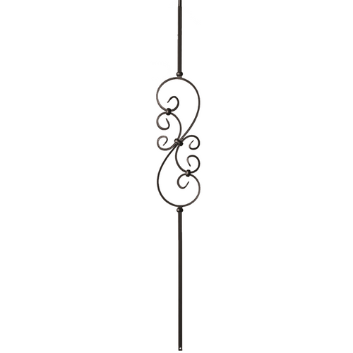 short s scroll for knee wall balusters