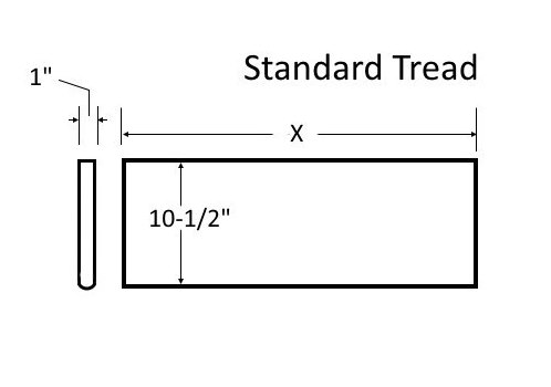 Standard tread wood from Lighted Landings