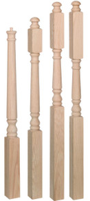 traditional style newel post