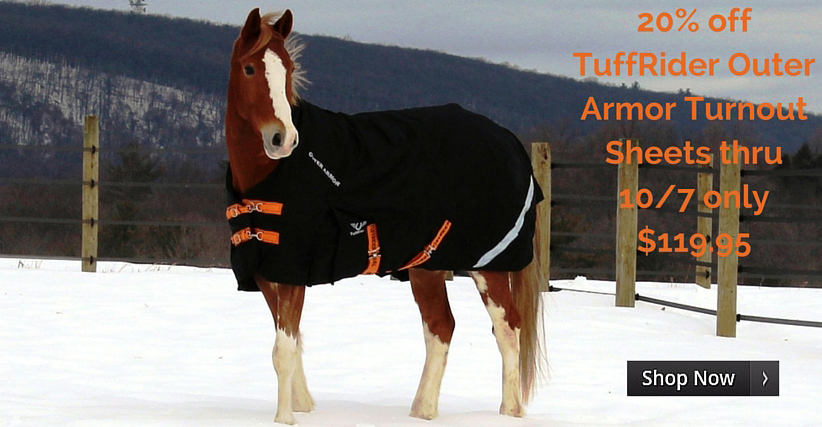 20% off TuffRider Turnout Sheets