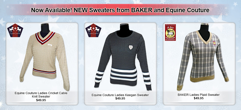 New Sweaters From Baker and Equine Couture