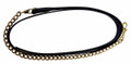 "HDR Pro Collection Leather Lead with 24"" Solid Brass Chain - black"