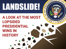 LANDSLIDE!  A Look at the Most Lopsided Presidential Wins in History - (Audio CD)