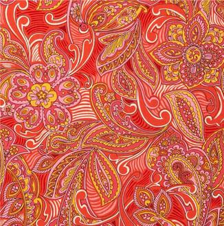 "Robert Kaufman lawn print fabric, 8"" swatch shown"