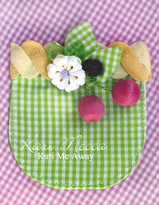 Sheri's Cherries Embellishing Trim Kit with Rick Rack Flowers