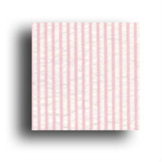 Pink Stripe Seersucker fabric