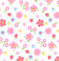 Pink Potpourri fabric in 100% cotton print