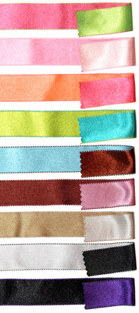 Two-Color reversible satin ribbon from Kari Me Away