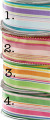 "1-1/2"" Multicolor Stripe Ribbons Pkg."