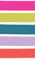 Hot Pink, Lime Green, Teal, Lavender, Orange cotton satin ribbon