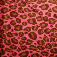 Hot Pink Silky Satin Jaguar fabric