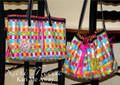 Tape Measure Tote Bag Pattern by Kari Mecca - two styles included