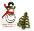 Snowman and Christmas Tree Zipper Kit from Kari Me Away
