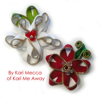 Zipper Poinsettia by Kari Mecca