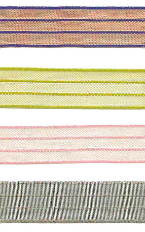 "3/8"" Sheer Iridescent Pinstripe Ribbon from Kari Me Away"