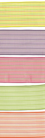"1-1/2"" Sheer, Wired Ribbon with Stitched Pinstripes from Kari Me Away"