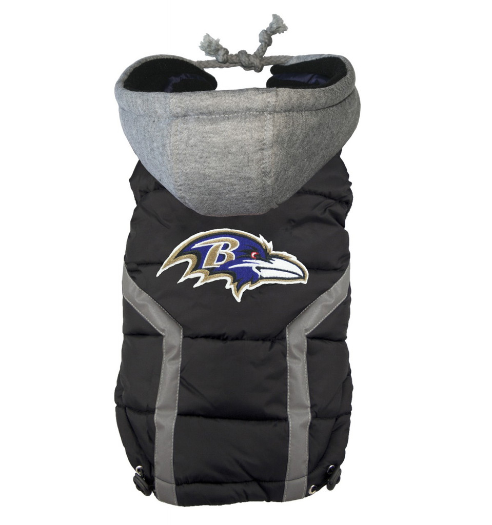 Hip Doggie Baltimore Ravens Dog Puffer Vest
