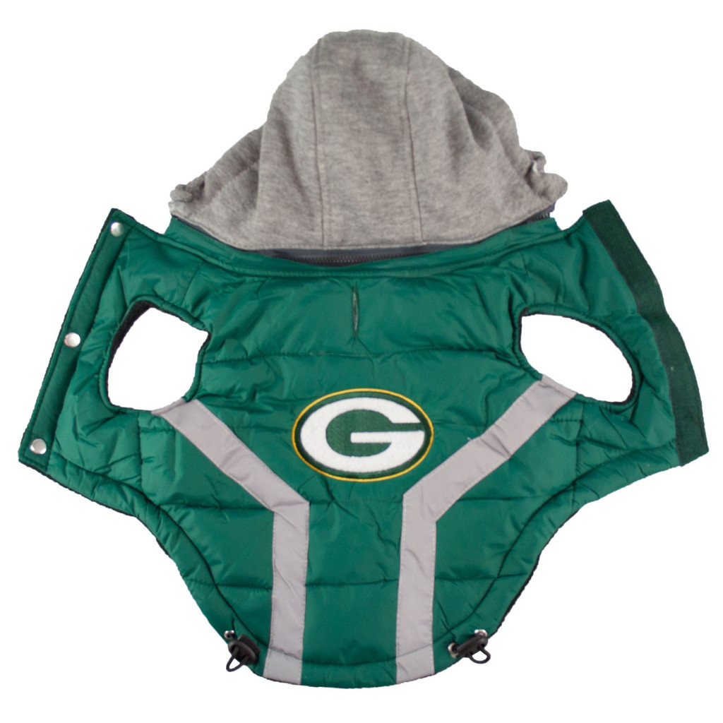 Hip Doggie Green Bay Packers Dog Puffer Vest