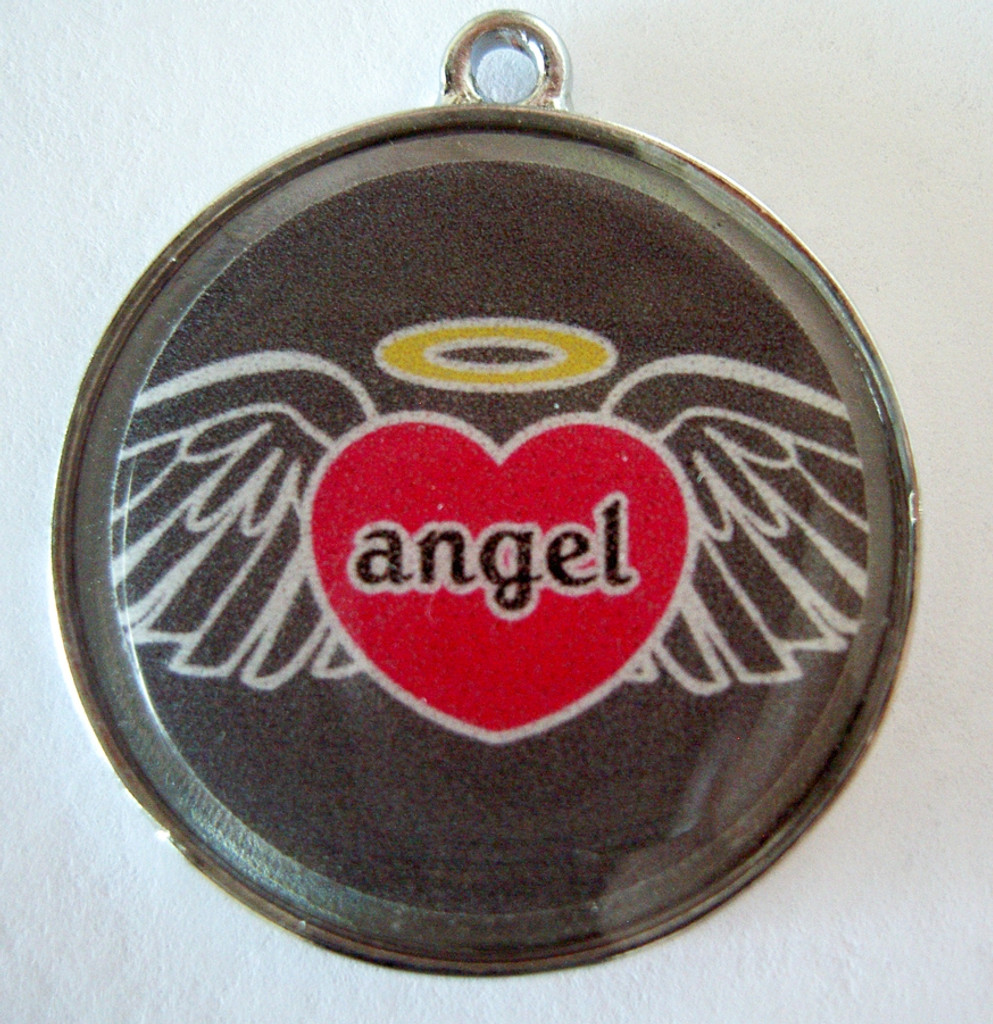 Angel Heart Wing Pet ID Tag