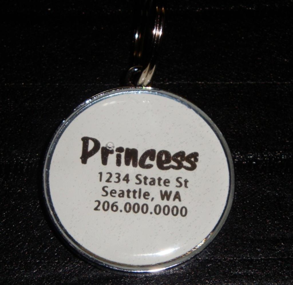 Peridot Swarovski Rhinestone Pet ID Tag