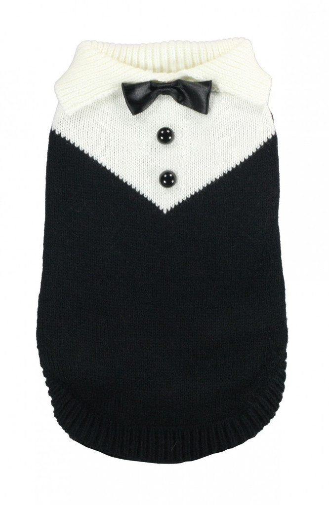 Black Tux Sweater