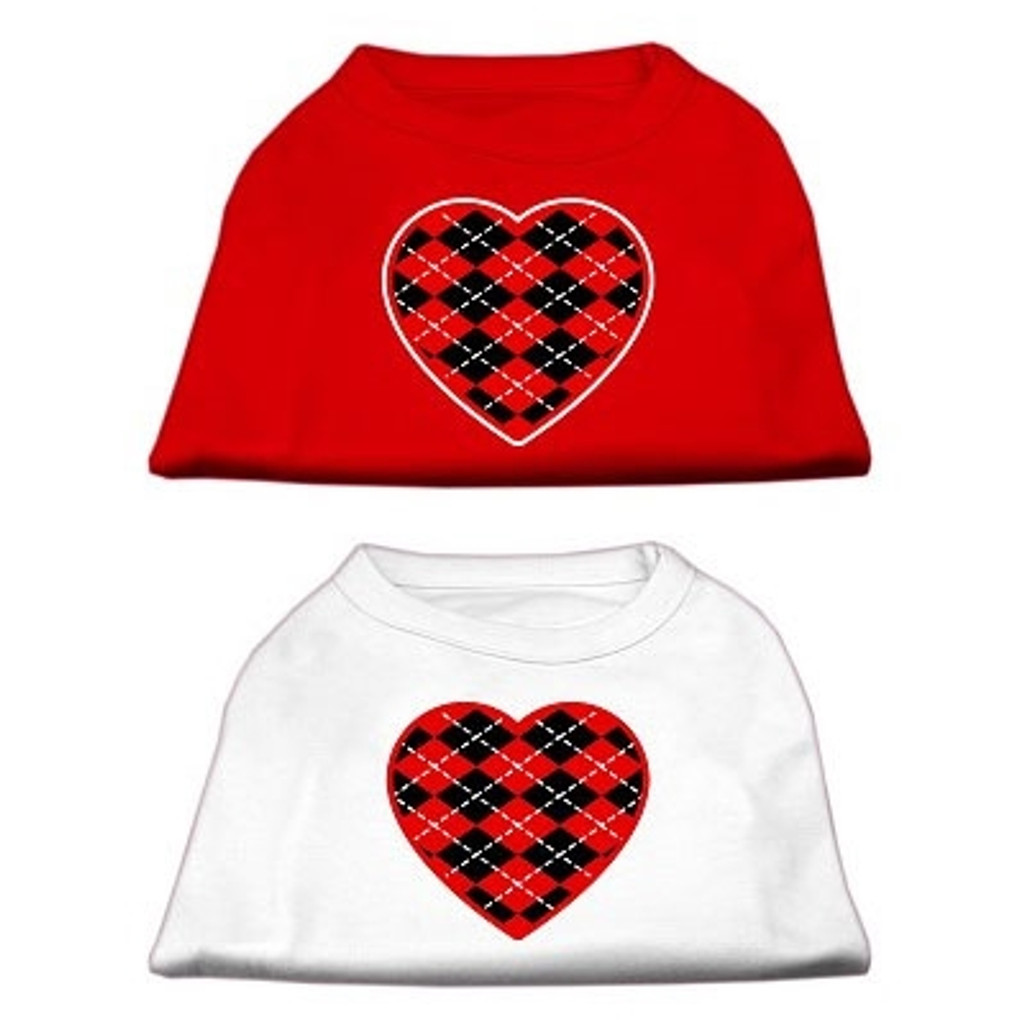 Red Argyle Heart Shirts