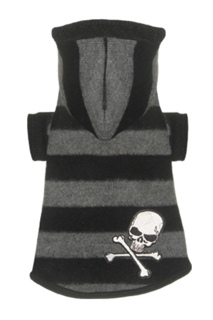 Super Soft Grey Skull Hoodie