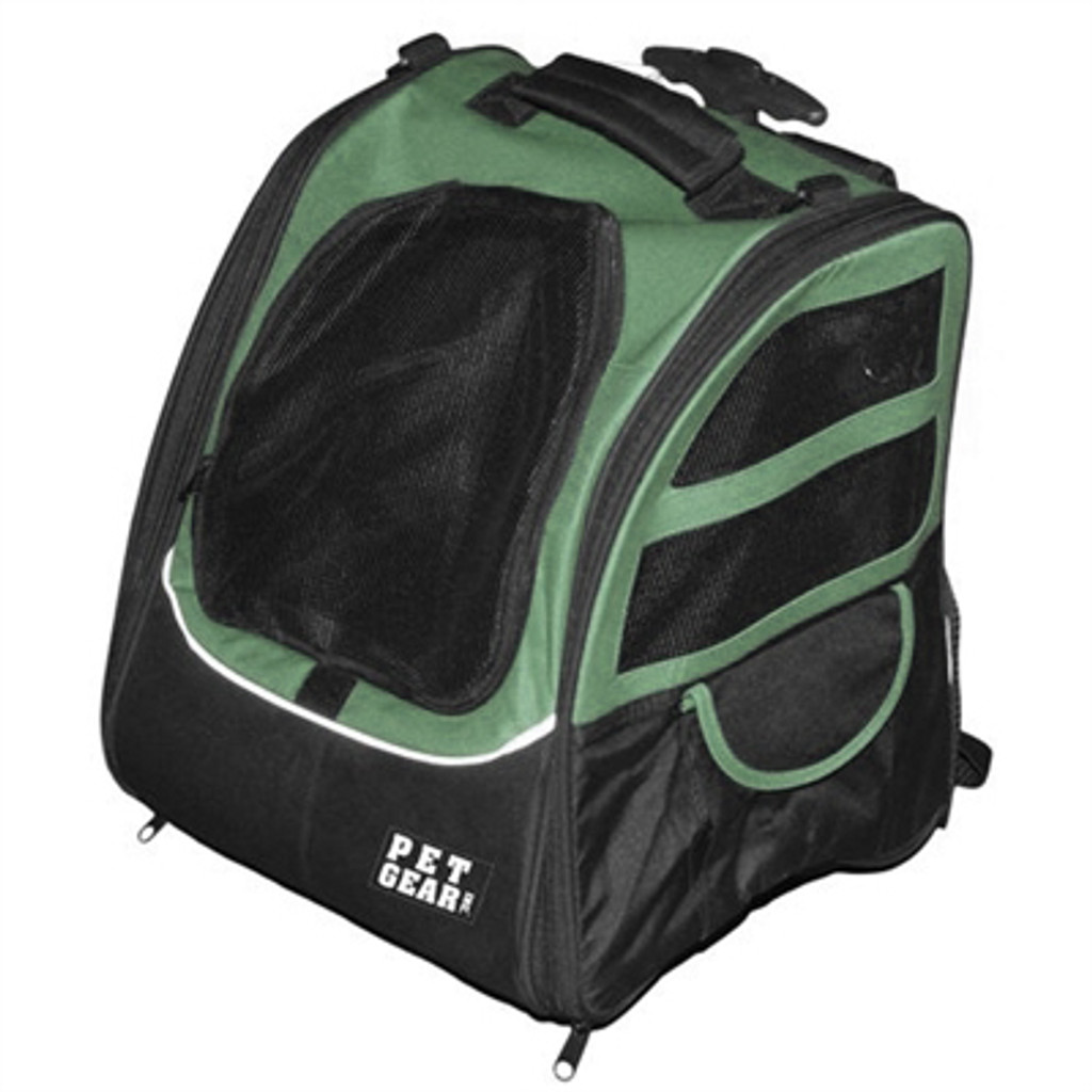 Pet Edge I-GO2 Traveler Dog Roller-Backpack - Sage