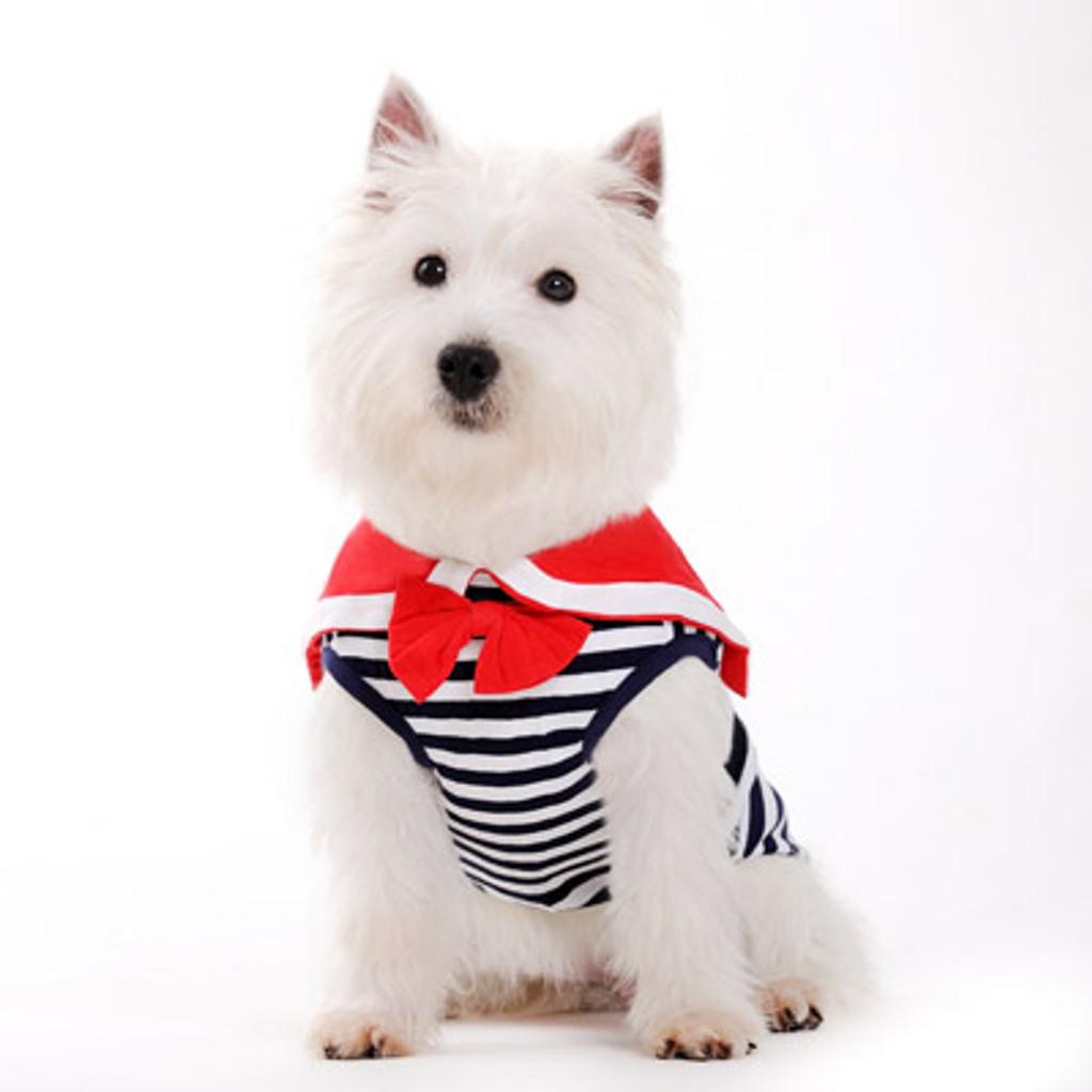 Dogo Dog Sailor Boy Navy Tank - Free Shipping