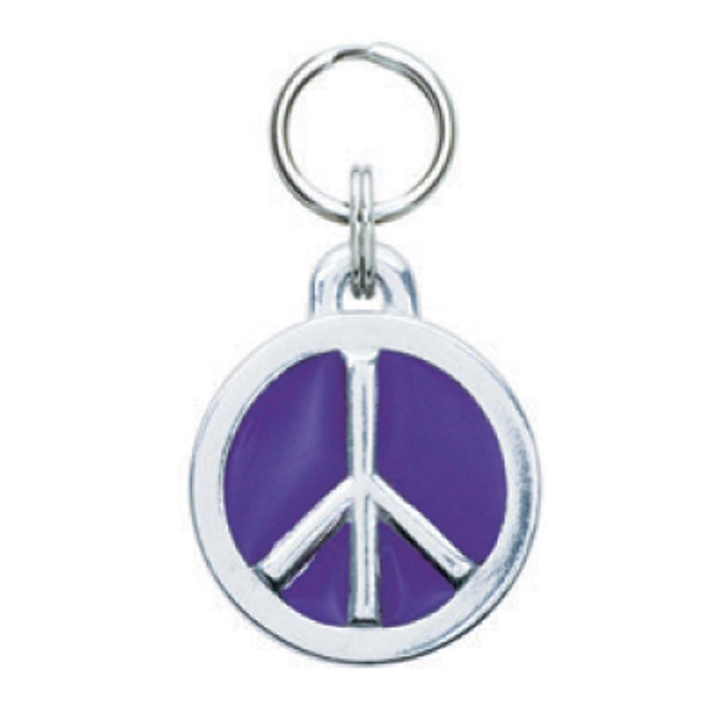 Glitter Circle Peace Tag